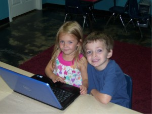 Children on the computer