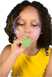 Preschool girl Blowing Bubble